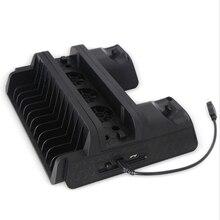 Многофункциональная PS4/Slim/PRO вертикальная подставка с охлаждающим вентилятором кулер двойной контроллер зарядное устройство зарядная станция для SONY Playstation