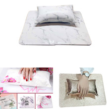 Professional Nail Art Hand Pillow Cushion Artificial Leather Manicure Table Pad Set Arm Rest Pillow Nail Table Mat Manicure Tool