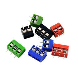 10PCS 4 Color KF301-2P 3P Screw 5.08mm Terminal Block 2 Pin 3 Pin PCB Terminal Block Connector High Current Plug-In Terminals