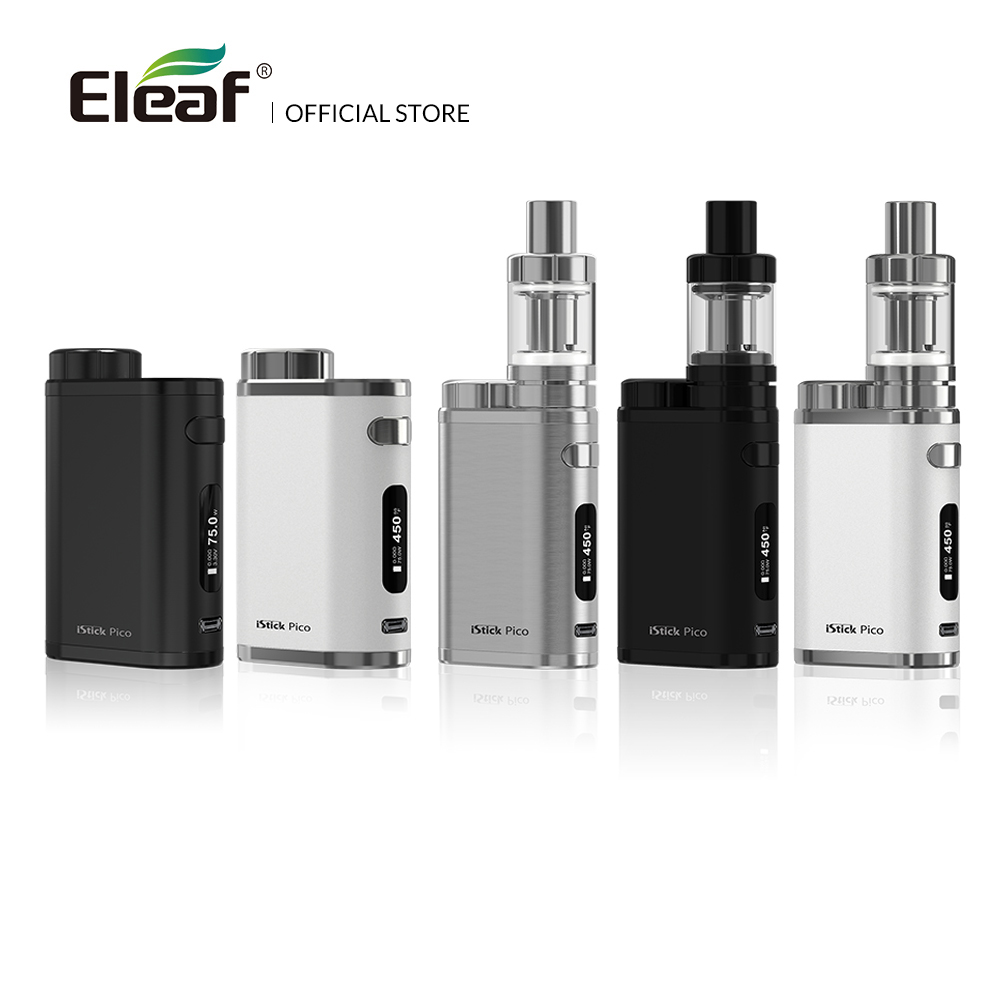 [RU/US/FR/ES]Original Eleaf IStick Pico Mod /iStick Pico 75W Kit With MELO III Mini Atomizer Box Mod In EC Head 2ml Melo 3 E Cig