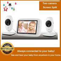 720P HD 7 Wireless Baby Monitor With Two Digital Camera IR Night Vision Intercom Nanny Video Baby Monitor Supports Screen Split
