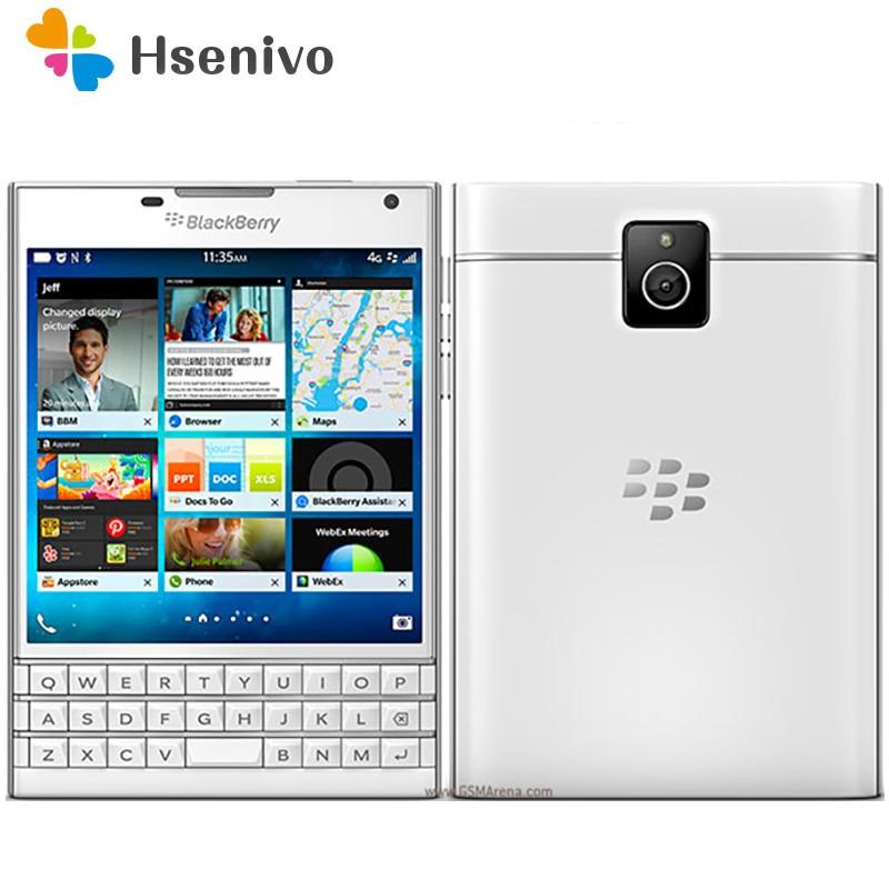 Q30 Original Blackberry Passport Q30 Quad Core 4G LTE 3GB RAM 32GB ROM 13.0MP BlackBerry OS Cell Phone Free Shipping