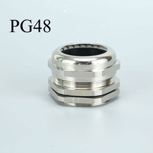 PG48 Brass Cable Gland Waterproof Wire Connector For 37-44mm Wire (M60/M63/M64) white 10pcs ip68 m12 for 3 6 5mm pg7 m16 m18 m20 m25 m36 m40 m63 wire cable ce waterproof nylon plastic cable gland connector