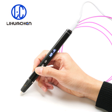 lihuchen 3D Pen RP900A DIY 3D Printing Pen Support ABS/PLA Filament 1.75mm Creative Toy Gift For Kids Design Drawing