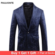 2019 Autumn And Winter High-End European American MenS Suits Dress High Quality Business Casual Printing Single West