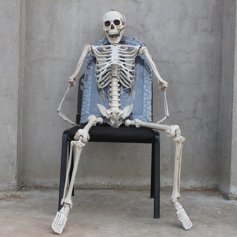 Halloween horreur jouet chambre accessoires fantôme maison Imitation squelette modèle os cadre tombe squelette Halloween décoration Gag cadeaux