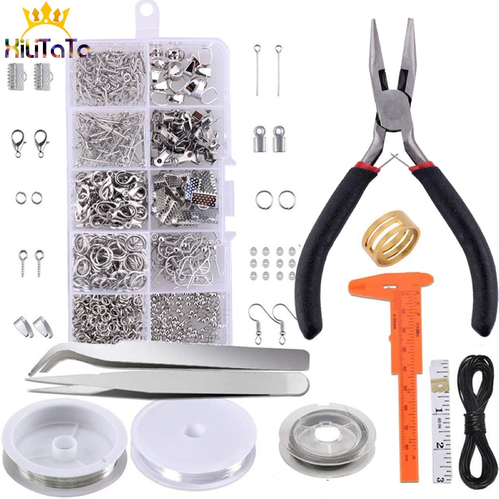 Jewelry Making Supplies Kits with Jewelry Tools Beading Wire and Jewelry Findings Accessories Sets Fit For Diy Bracelet Necklace