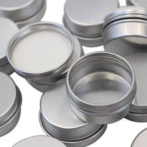 Image 2 - 100pcs x 5g 10g 15g אלומיניום עגול שפתון פח מכולות עם בורג מכסה חוט נהדר עבור תבלינים, סוכריות, תה או הענקת מתנות