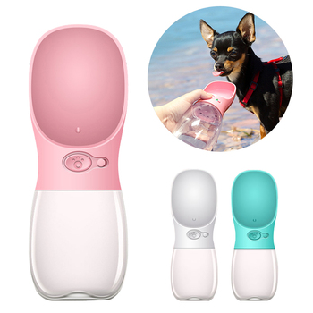 350ML 480ML 550ML Portable Pet Dog Water Bottle Travel Puppy Cat Drink Bowl Outdoor Outside Portable Pet Feeder Dispensador