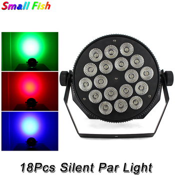 hot 2015 par led 54x3w flat led par can light high power rgbw stage lights with dmx512 master slave dj disco dmx home equipments Fast Shipping 2Pack 18X10W Led Silent Par Lights RGBW 4IN1 Flat Par Led DMX512 Disco Lights Professional Stage Dj Equipments