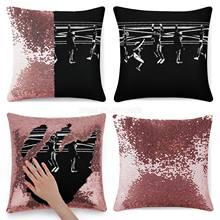 Vampiros ocultos lantejoulas fronha lance capa de almofada para o sofá 40x40cm sereia vampiros perdidos meninos filmes 8s men bridge bla