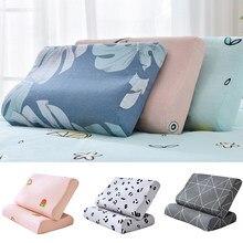 50x3 0cm/60x40cm impresso fronha confortável quarto dormir espuma de memória látex travesseiros caso adulto crianças capa de travesseiro