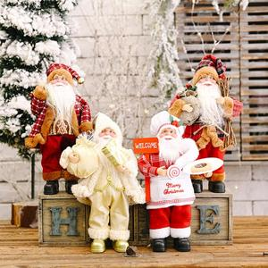 FENGRISE Santa Claus Doll 2020 Christmas Tree Ornament Merry Christmas Decorations For Home Navidad Natal Gifts New Year 2021