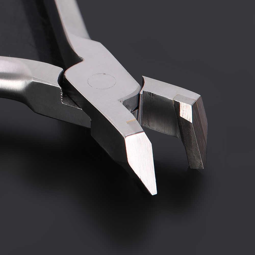 طبيب الأسنان كماشة قاطع بطرف بعيد الفولاذ المقاوم للصدأ تقويم الأسنان ذو طيات أدوات أداة الأسنان الفك قوس قطع تقويم الأسنان القاطع