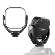 Mini vídeo led selfie câmera luz 6w cri95 3200k-6500k pode ser escurecido com sapato frio triplo u-forma suporte embutido 2000mah bateria