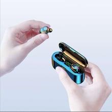 Tws Bluetooth V5.0 Headset Draadloze Headset 3500Mah Led Bluetooth 9D Hifi Ruisonderdrukking Opladen Compartiment Waterdichte Call