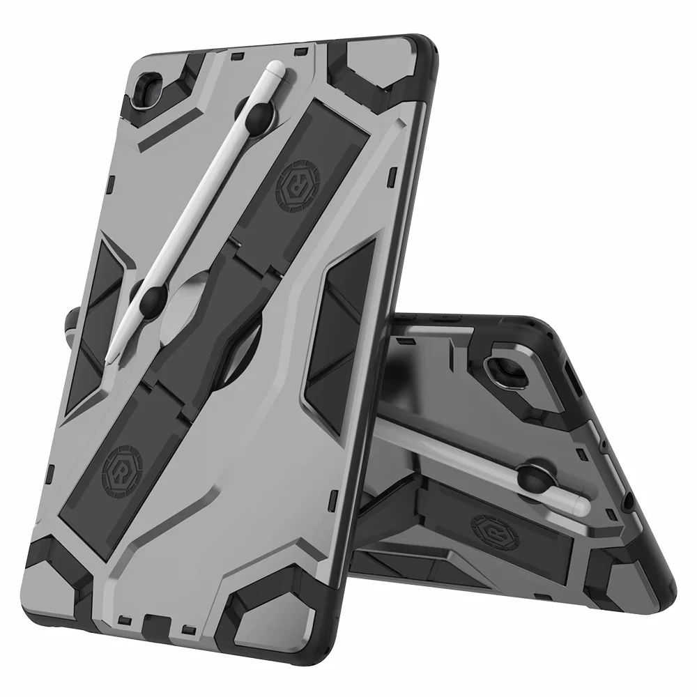 Rugged Cover Shockproof Hard Silicone Armor Case for Samsung TAB A E S3 S4 S5E S6 Lite T510 T580 T720 T860 T290 T830 T590 P610 image