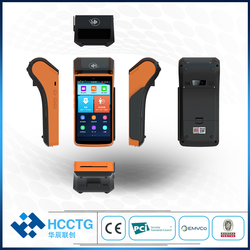 Terminal de position Android de Scanner tenu dans la main 4G/Wifi/Bluetooth MSR et IC et NFC et 2D avec l'imprimante P20L