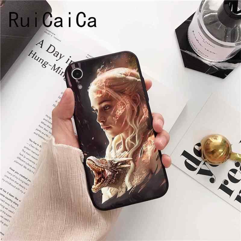 Jogo Tronos Daenerys Ruicaica Dragão Jon Snow tyrion lannister Logotipo Caso de Telefone para o iphone 8 7 6 6 6S mais X XS MAX 5 5S SE XR