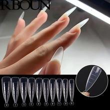 100 pièces Poly ongles Gel rapide construction moule ongles conseils double formes Extension de doigt Art UV constructeur facile trouver des outils