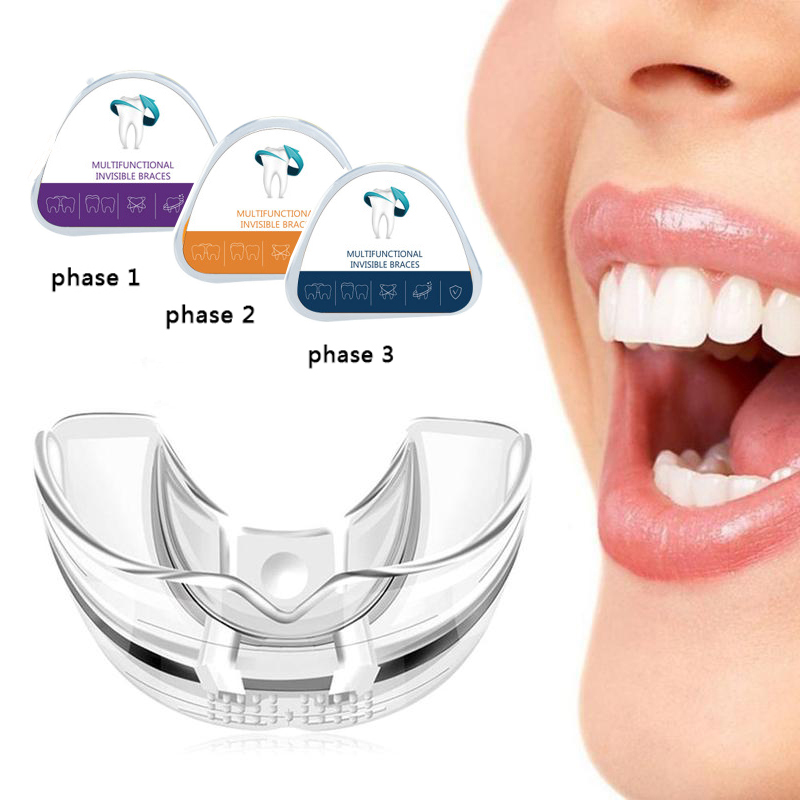 3 Phase Dental Orthodontic Teeth Corrector Braces Teeth Trainer Straighten Teeth Correct Myobrace For Adult Night Molar Stage