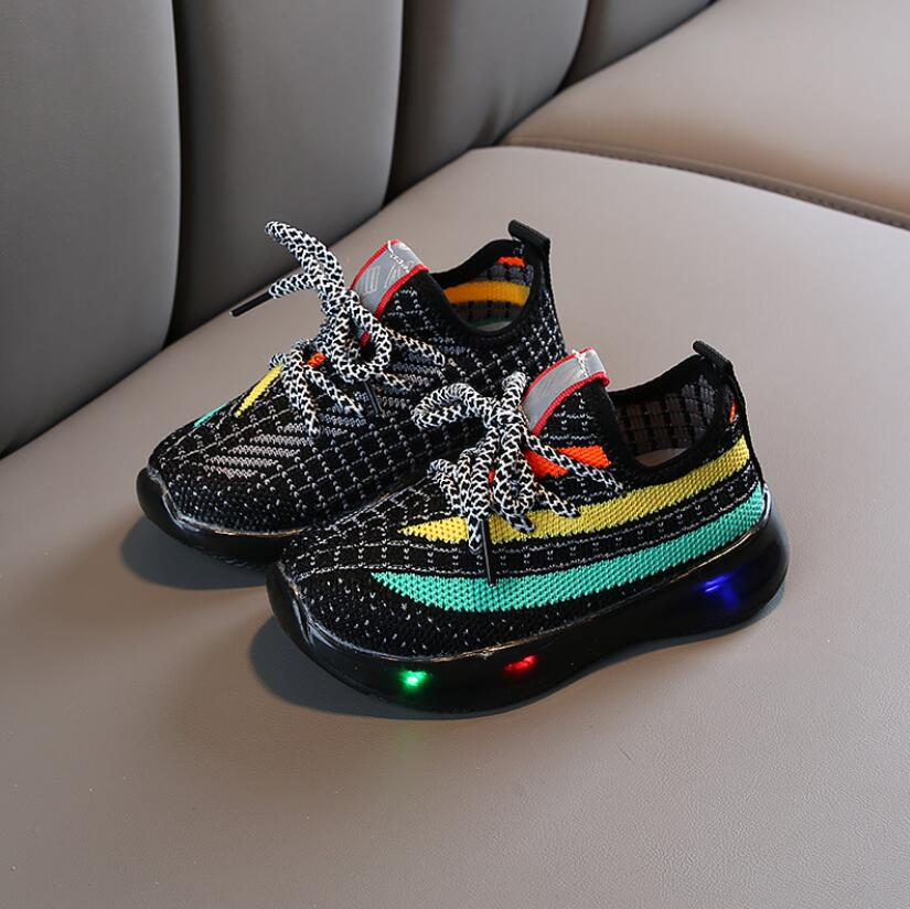 Mesh Colorful LED Sport Run Sneakers 4