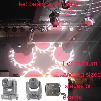Z szybką blokadą wysokiej jakości led spot beam 150w 2w1 reflektor z ruchomą głowicą led 150w spot lyre led 150w beam reflektor z ruchomą głowicą tanie i dobre opinie gzbestlight Rohs WEEE CN (pochodzenie) Efekt oświetlenia scenicznego Oświetlenie sceniczne DMX 200 w BT-MHS150 90-240 V