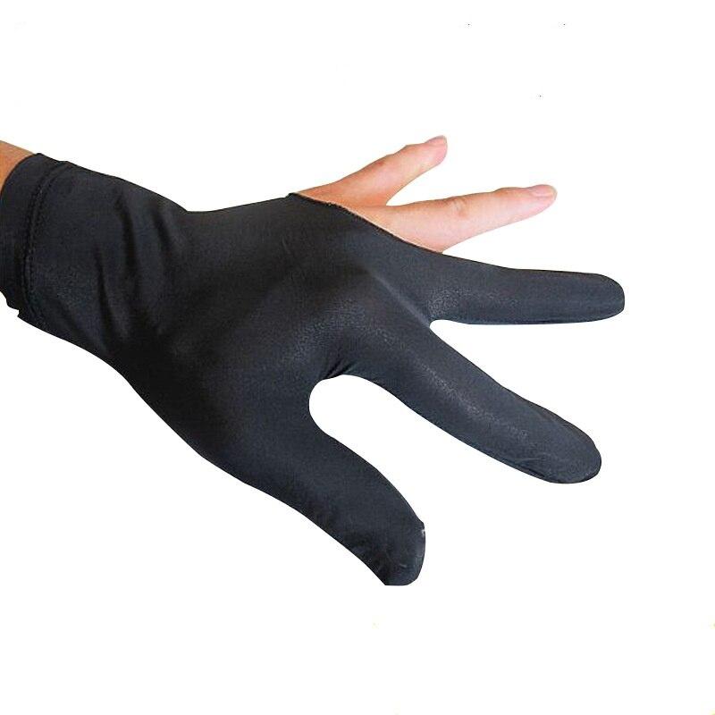 Snooker Billiard Glove Embroidery Billard Gloves Left Hand Three Finger Smooth Biliardo Billar Guanti Billiard Accessories