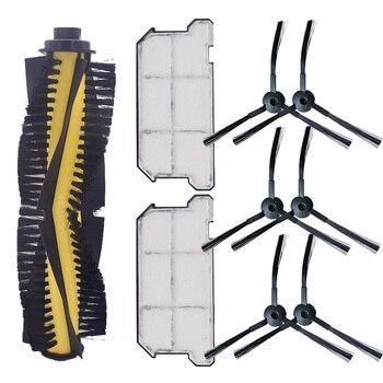 1 × فرشاة رئيسية + 6 × فرشاة جانبية + 2 × فلتر Hepa ضد الغبار ل Ilife V7 V7S V7S برو جهاز آلي لتنظيف الأتربة قطع الغيار استبدال