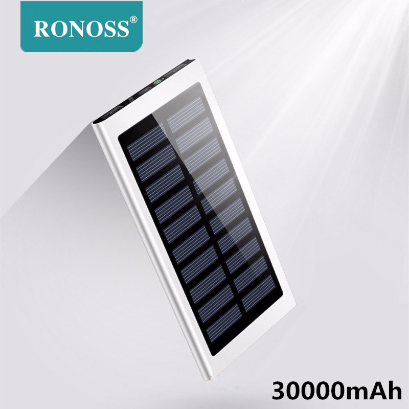 Real <font><b>30000mah</b></font> <font><b>Solar</b></font> <font><b>Power</b></font> <font><b>Bank</b></font> External Battery powerbank Portable <font><b>Solar</b></font> Charger <font><b>30000mah</b></font> poverbank for xiaomi mi remdmi device image