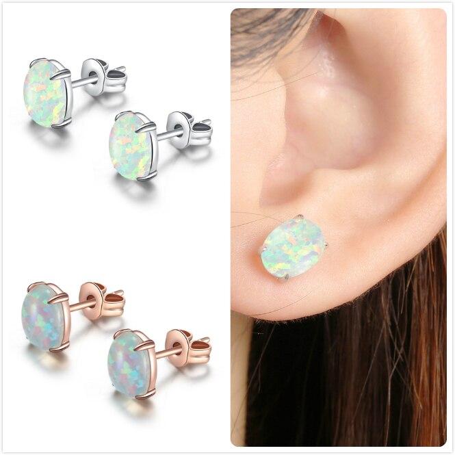 Vintage Geometric Turquoise Big Circle Hook Earrings 925 Silver Fashion Jewelry
