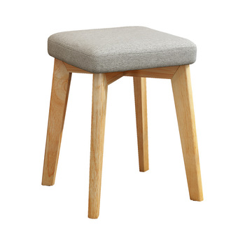 Small square stool fashion creative modern makeup simple solid wood chair home dining  adult fabric soft surface