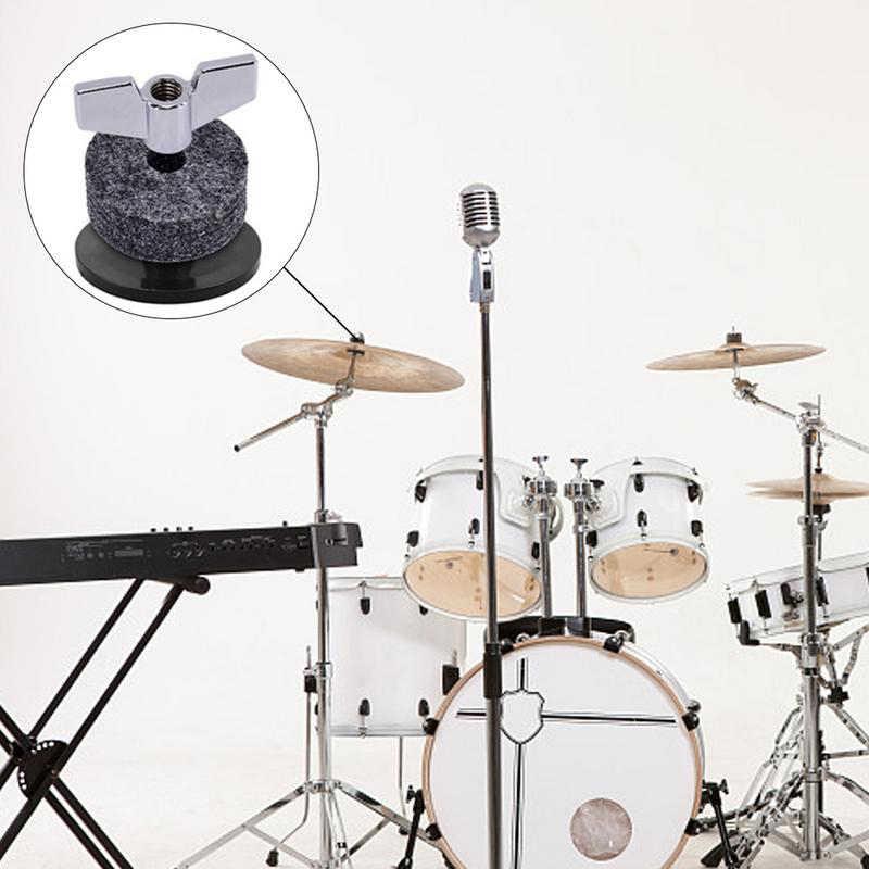 Hot HG-18Pcs Drum Set Cimbaal Vervangende Onderdelen Accessoires (3Pcs Cimbaal Mouwen + 3 Stuks Vleugel Noten + 3 stuks Ringen + 9Pcs Wolvilt Pad