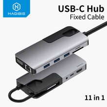 Хагбис usb c концентратор typec к 30 hdmi compatibe vga адаптер