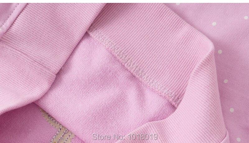 H67cd9bda142f43ad8981421ef310f16bE Bebe Girls s Fleeces Sweatshirt 100% Terry Cotton Sweater Children t shirt Kids Hoodies Blouses Baby Girl Clothes Dots Flower