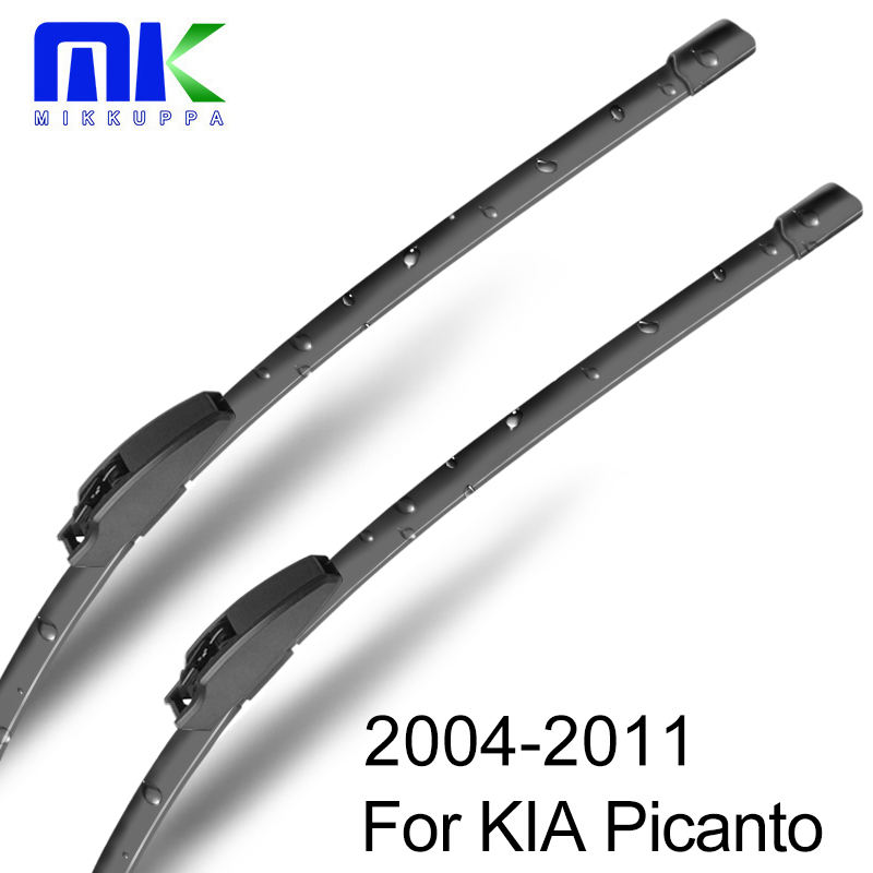 MIKKUPPA Hybrid Wiper Blades for KIA Picanto Fit Hook Arms 2004 2005 2006 2007 2008 2009 2010 2011