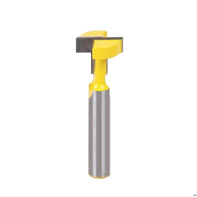 3/8 t-slot Cutter 1/4 tige en acier poignée fraisage bois routeur peu