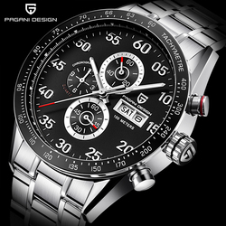 PAGANI DESIGN Men Sport watches quartz multi-function Waterproof men chronograph top brand luxury military sports men clock 2020