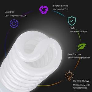 Image 5 - Bombilla fluorescente de luz diurna para fotografía, Base E27, 135 K, 4x5500 W, para Softbox, sesión fotográfica