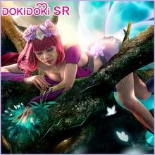 DokiDoki SR 게임 리그 오브 레전드 코스프레 Ahri Cosplay Costume LOL 여성 리그 오브 레전드 Elderwood Ahri Costume Halloween