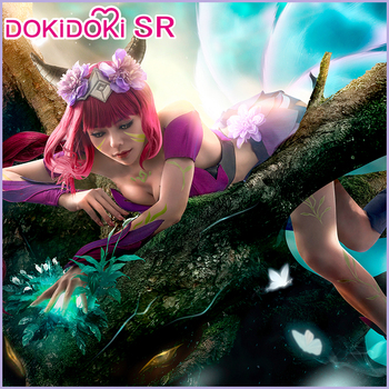 цена DokiDoki-SR Game League of Legends Cosplay Ahri Cosplay Costume LOL Women League of Legends Elderwood Ahri Costume Halloween онлайн в 2017 году