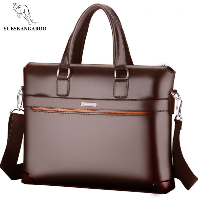 YUESKANGAROO New Men's Shoulder Bag Business Crossbody Bag PU Leather Briefcase High Quality Handbag Computer Messenger Bags