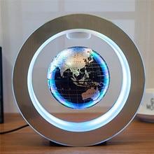 4 cal okrągłe LED na całym świecie globus magnetyczny geografia lewitujący obracanie, noc, lampa mapa świata szkolne materiały biurowe wystrój domu