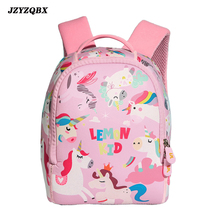 JZYZQBX Cartoons Animals School Bag Candy Color SBR Backpack mochilas escolares infantiles For Girls Boy