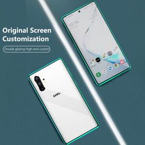 Image 5 - 2021 Metal manyetik adsorpsiyon cam kılıf Samsung Galaxy not 8 9 10 artı S10 S9 S8 artı Anti casus ekran kılıfı kapak Coque