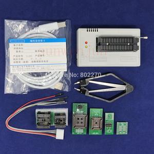Image 1 - Czarna wersja V10.27 XGecu TL866II Plus programator USB 15000 + IC SPI Flash NAND EEPROM MCU PIC AVR + 6 sztuk ADAPTER + ekstraktor PLCC