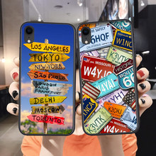 Soft Silicone Luxury Phone Case For Iphone 8 7 Plus 6 6S Travel Signs Direction TPU X Xs Cover