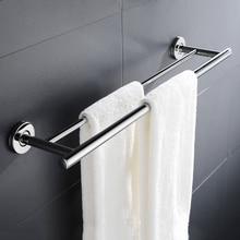 נירוסטה מגדל בר נגד חלודה אמבטיה רחצה כפול מוט מגבת מתלה מדף בעל קיר רכוב