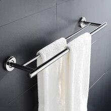 Wieża ze stali nierdzewnej Bar Anti rust łazienka ubikacja podwójne pręt wieszak na ręczniki półka uchwyt do montażu na ścianie