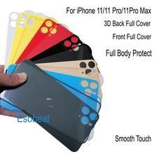 Esobest – protecteur décran 3D pour iphone 11 pro max, couverture avant et arrière, film
